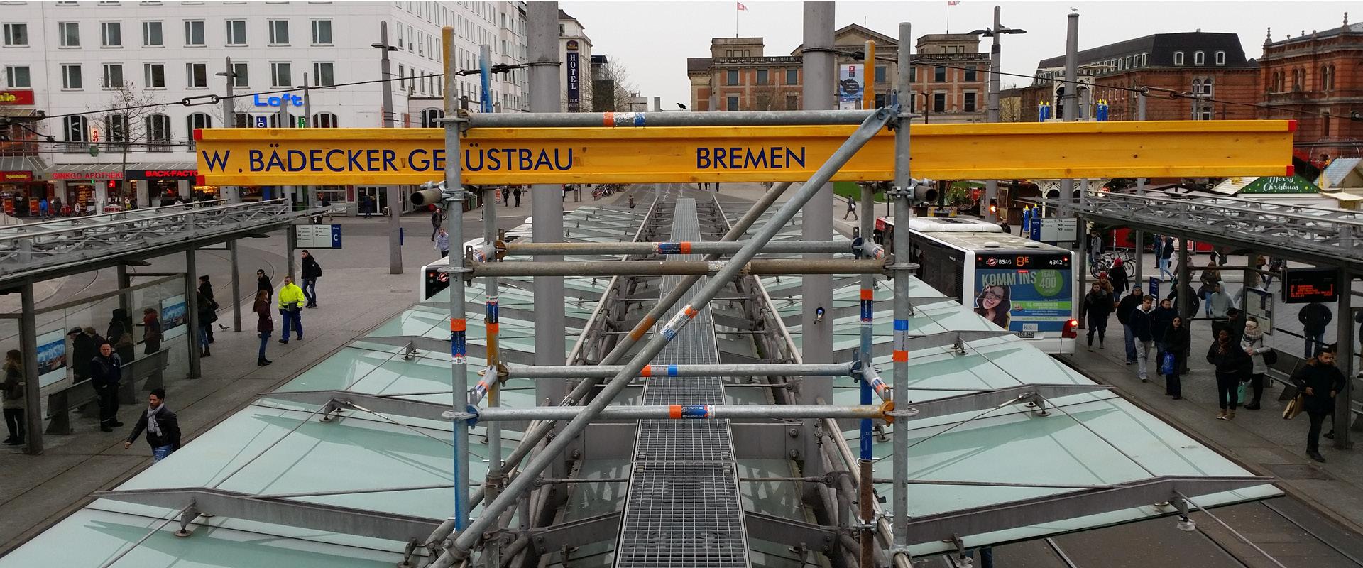 Gerüstbau Bahnhof Bremen