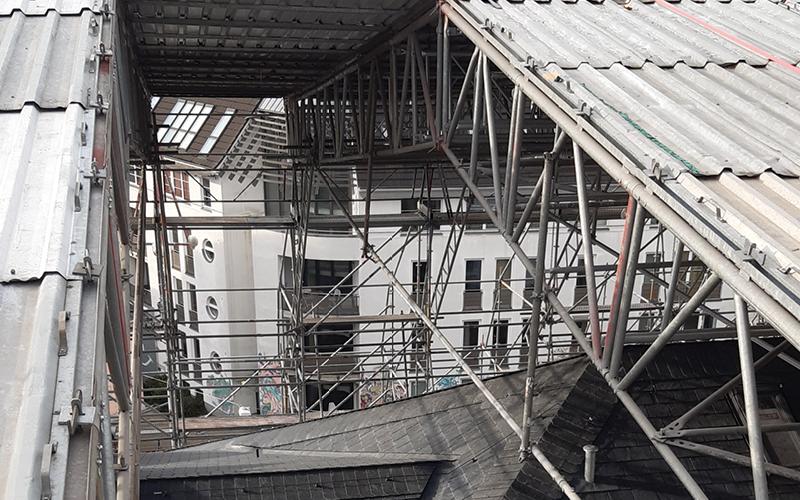 Baedecker Dachgerüst Aufbau